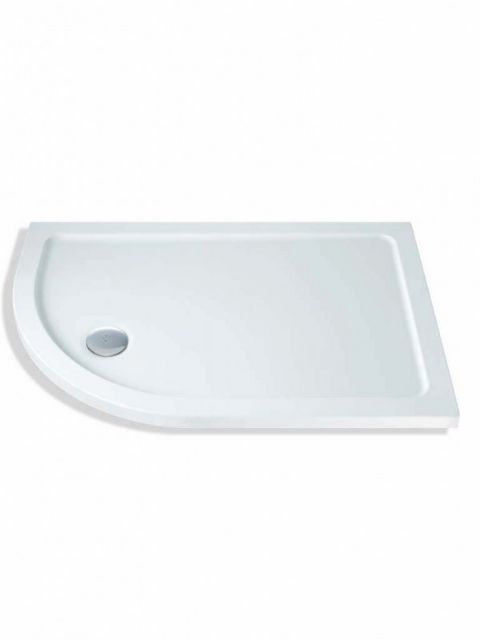 MX Durastone 900mm x 760mm Low Profile Offset Quadrant Shower Tray Left Hand XPY